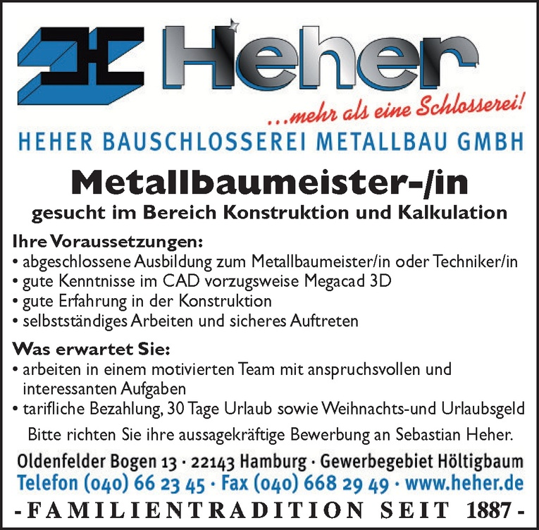 Metallbaumeister-/in