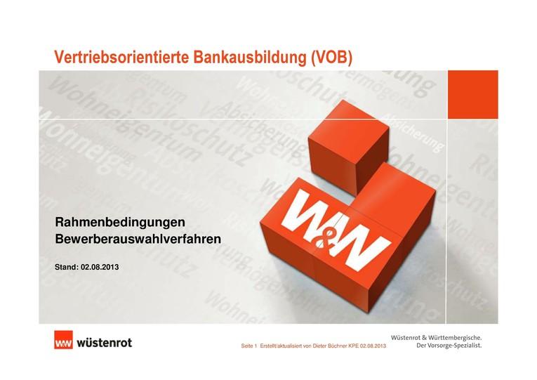 Vertriebsorientierter Bankkaufmann (m/w) mit Schwerpunkt Allfinanz