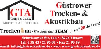 GTA GmbH & Co.KG Güstrower Trocken -& Akustikbau