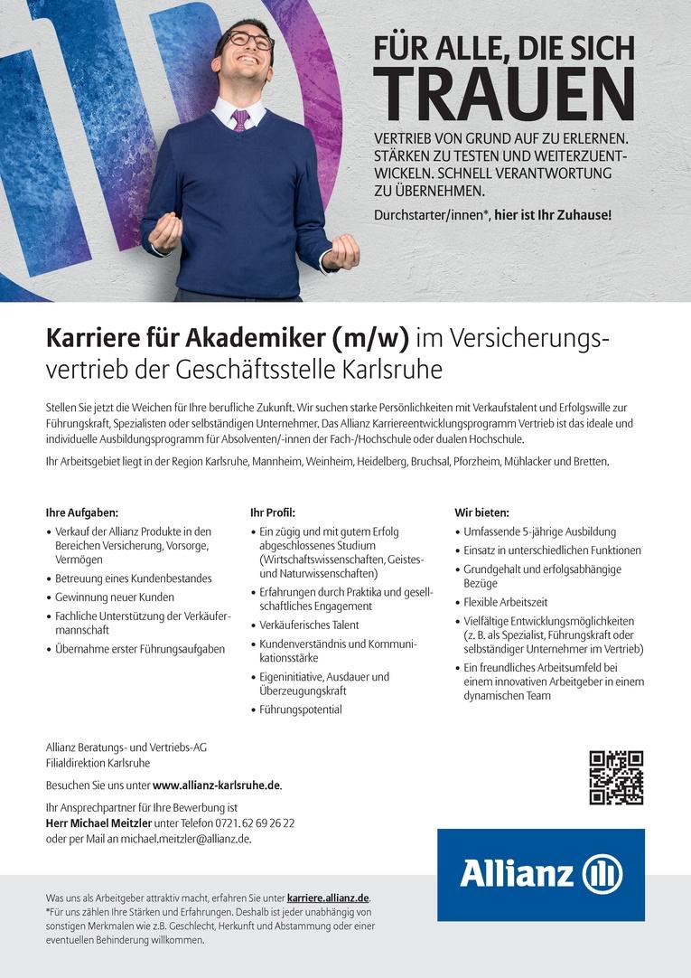 Karriere für Akademiker (m/w) im Versicherungsvertrieb