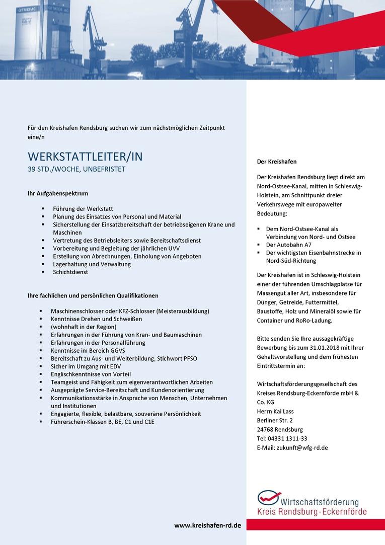 Werkstattleiter/in