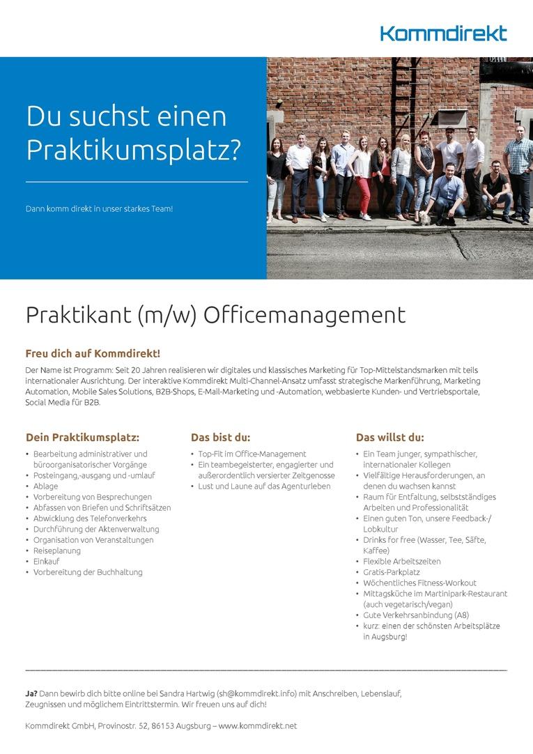 Praktikant (m/w) Officemanagement
