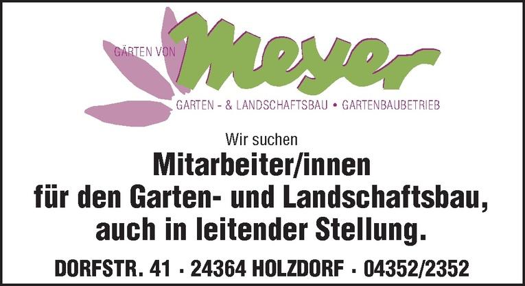Mitarbeiter/innen für den Garten- und Landschaftsbau