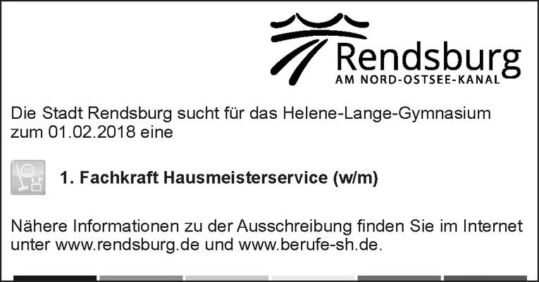 1. Fachkraft Hausmeisterservice (w/m)