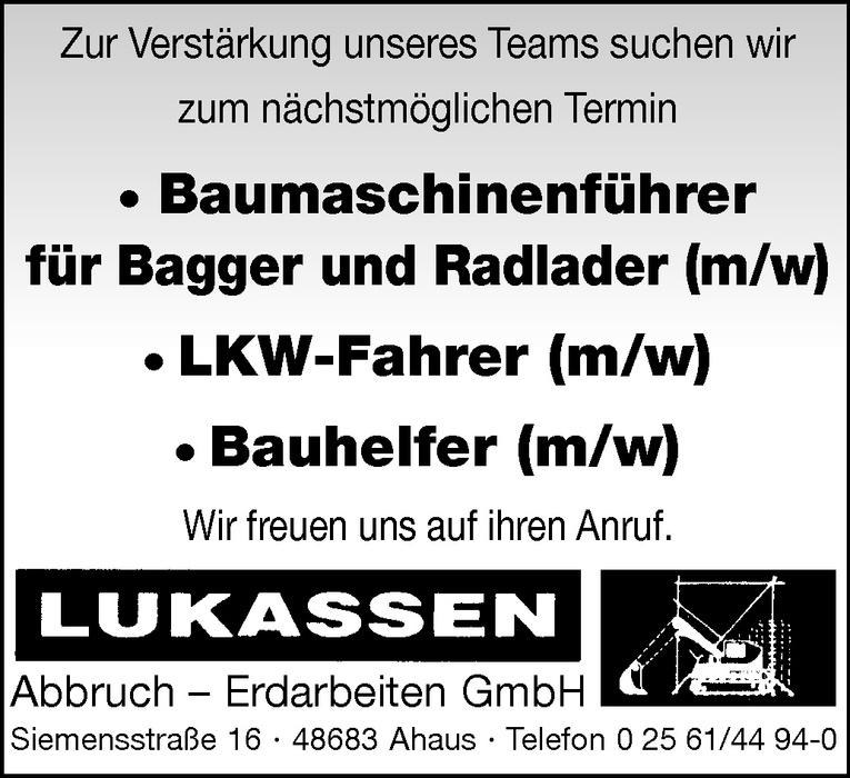Baumaschinenführer für Bagger und Radlader (m/w)