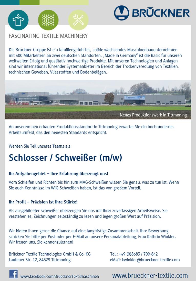 Schlosser / Schweißer (m/w)