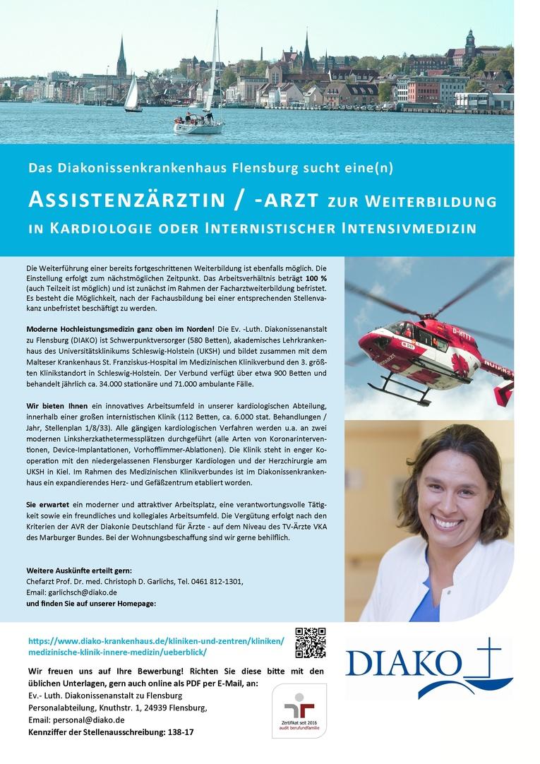 Assistenzarzt (w/m) zur Weiterbildung in Kardiologie oder Internistischer Intensivmedizin