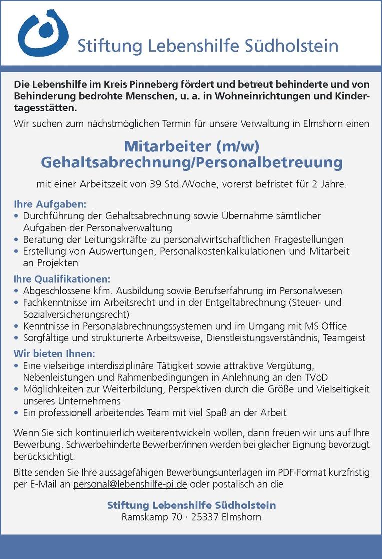 Mitarbeiter (m/w) Gehaltsabrechnung/Personalbetreuung