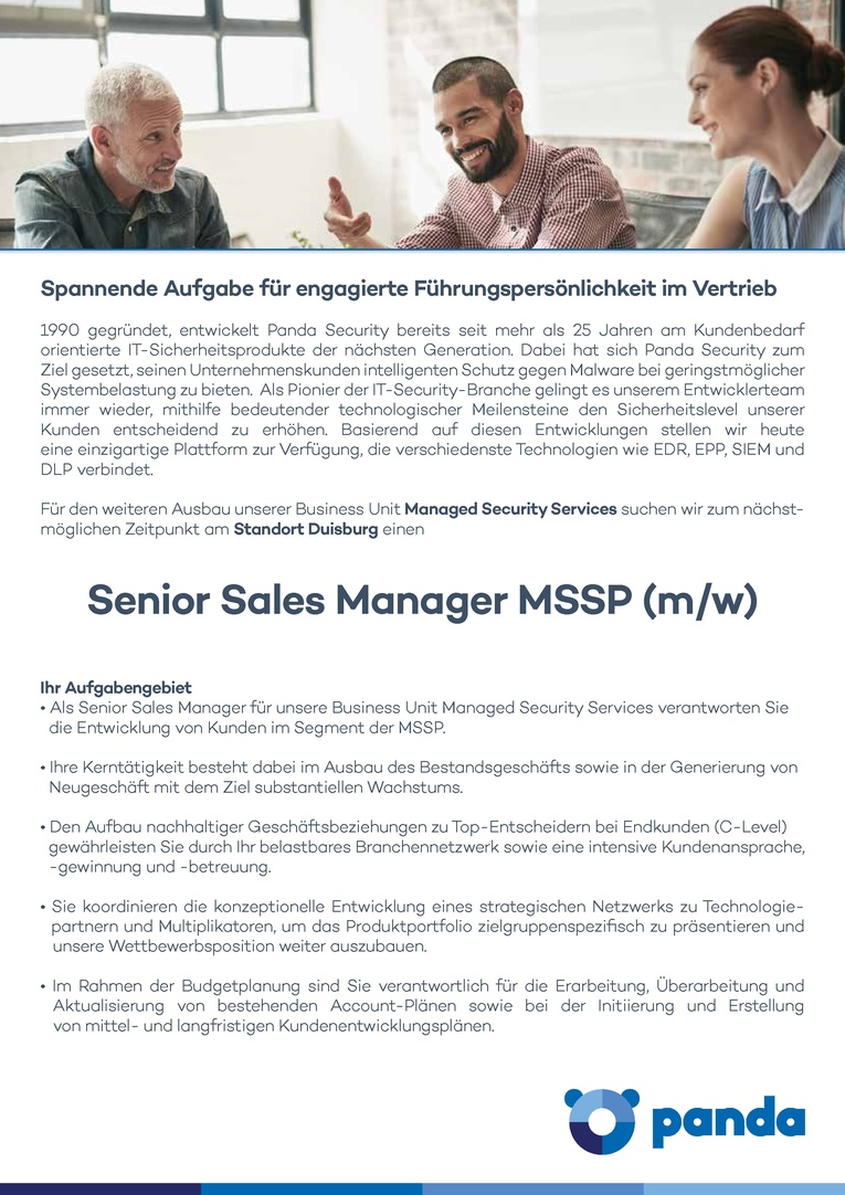 Senior Sales Manager MSSP (m/w)