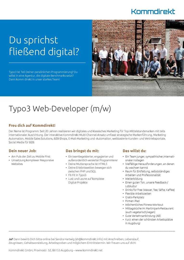 Typo3 Web-Developer  (m/w) gesucht
