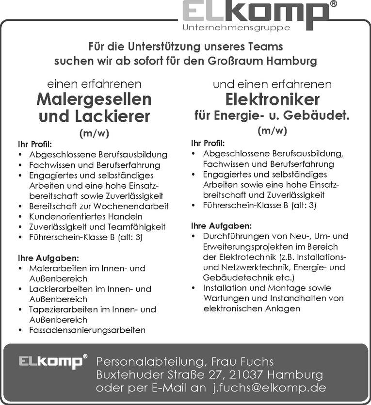 Elektroniker für Energie- u. Gebäudet. (m/w)