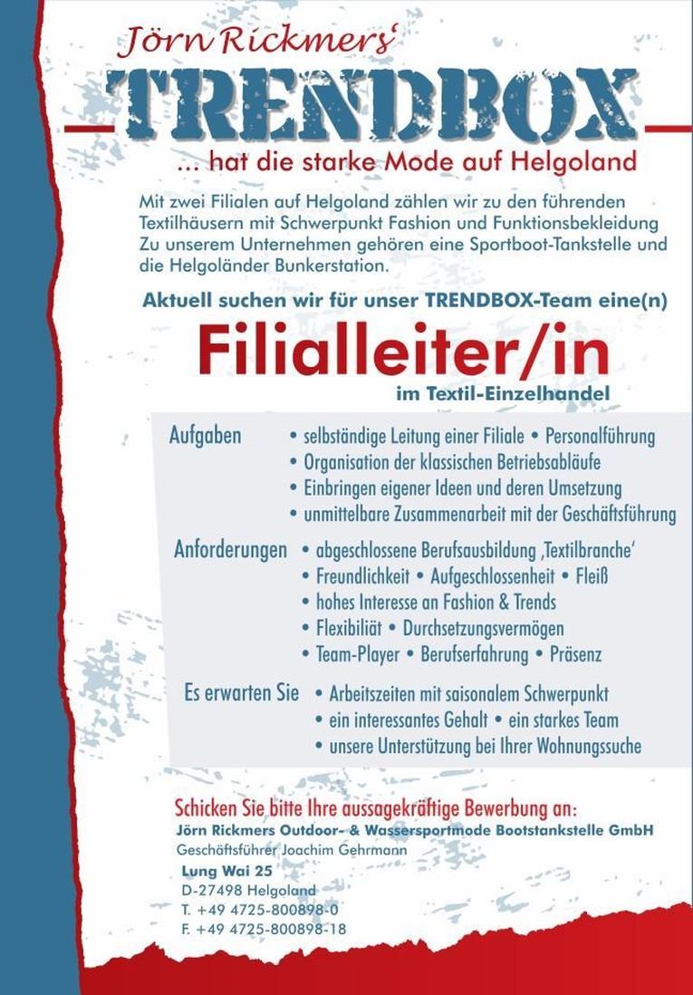 Filialleiter/in im Textil-Einzelhandel