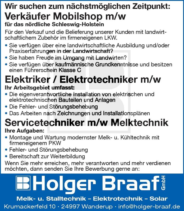 Elektriker / Elektrotechniker m/w