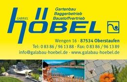 Garten und landschaftsbau visitenkarten  Arbeitgeber: Garten- und Landschaftsbau Gabriel Höbel