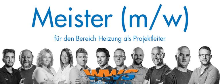 Meister (m/w) für den Bereich Heizung als Projektleiter