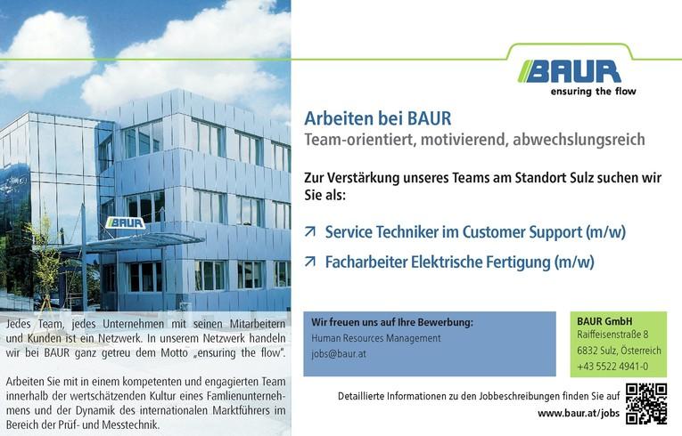 Servicetechniker im Customer Support / Facharbeiter Elektrische Fertigung (m/w) in Sulz