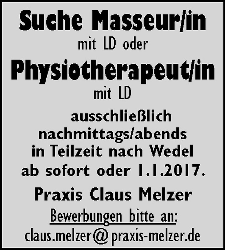 Masseur/in oder Physiotherapeut/in
