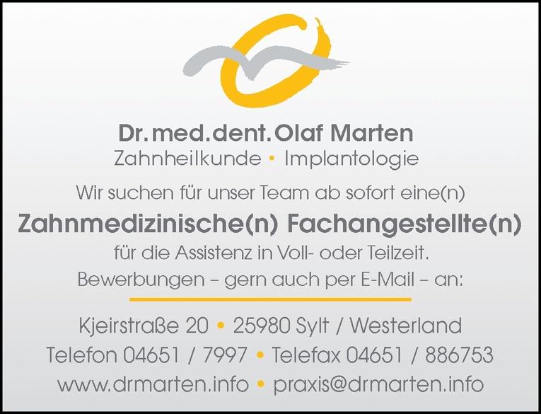 Zahnmedizinische(n) Fachangestellte(n)