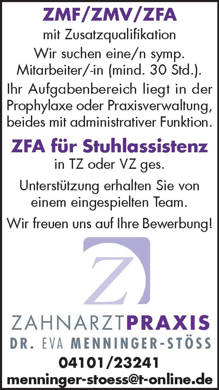 ZFA für Stuhlassistenz