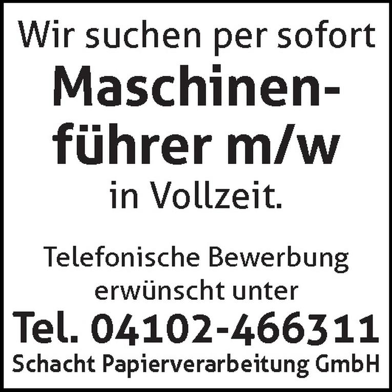maschinenfhrer mw - Bewerbung Als Maschinenfuhrer