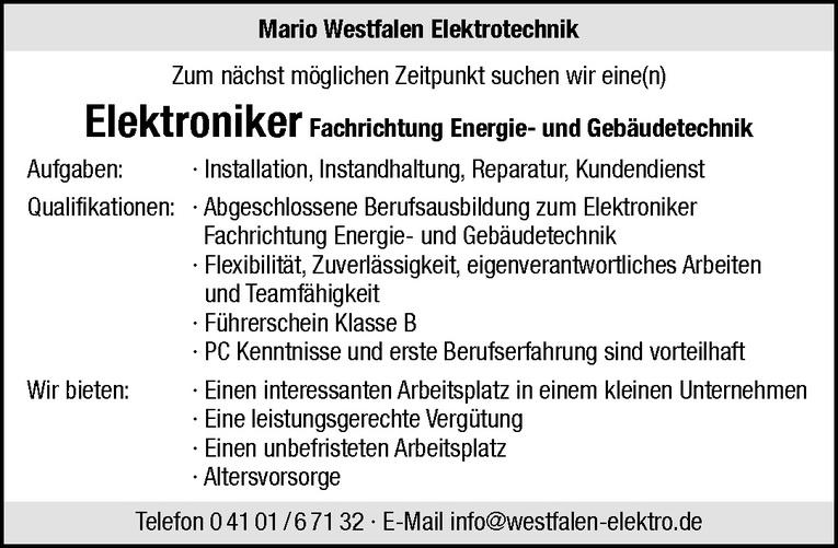 Elektroniker Fachrichtung Energie- und Gebäudetechnik