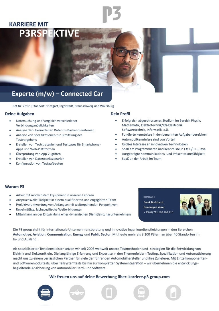 Experte (m/w) Connected Car