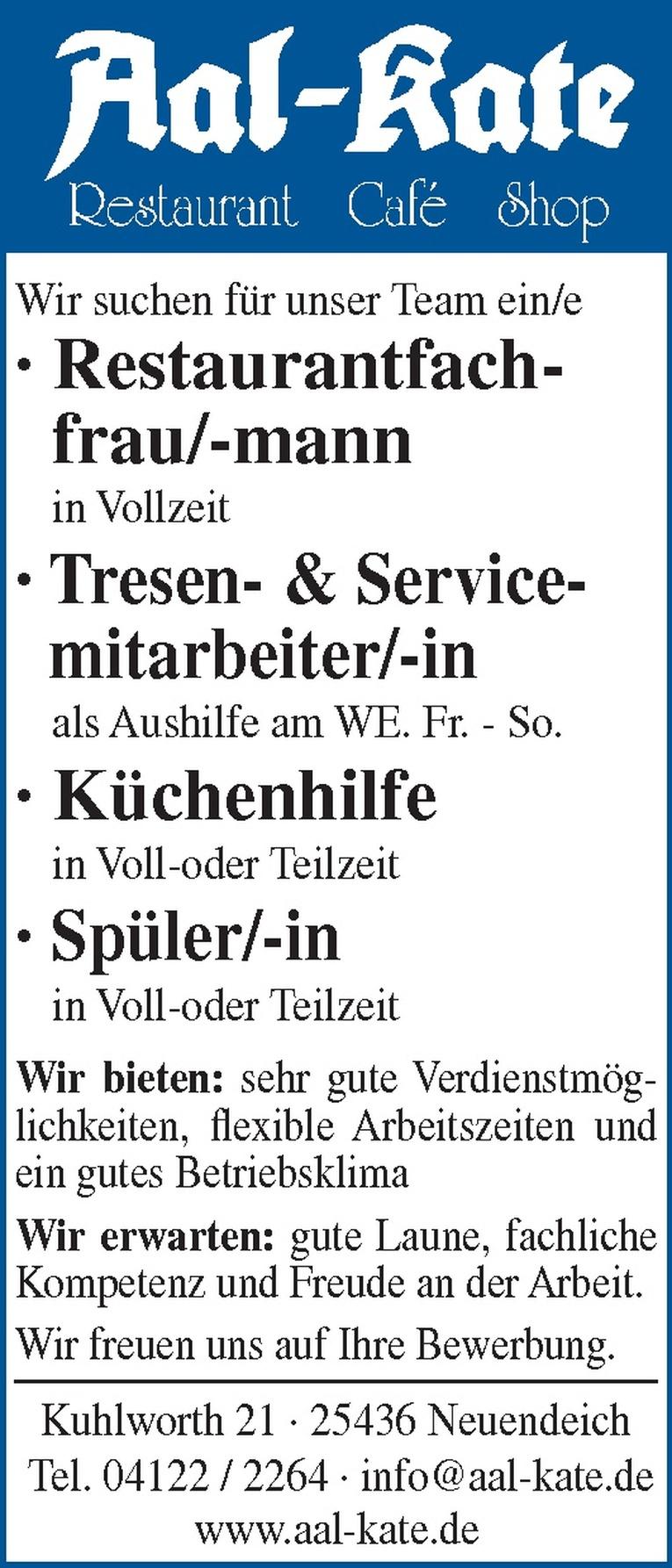 Tresen- & Servicemitarbeiter/-in