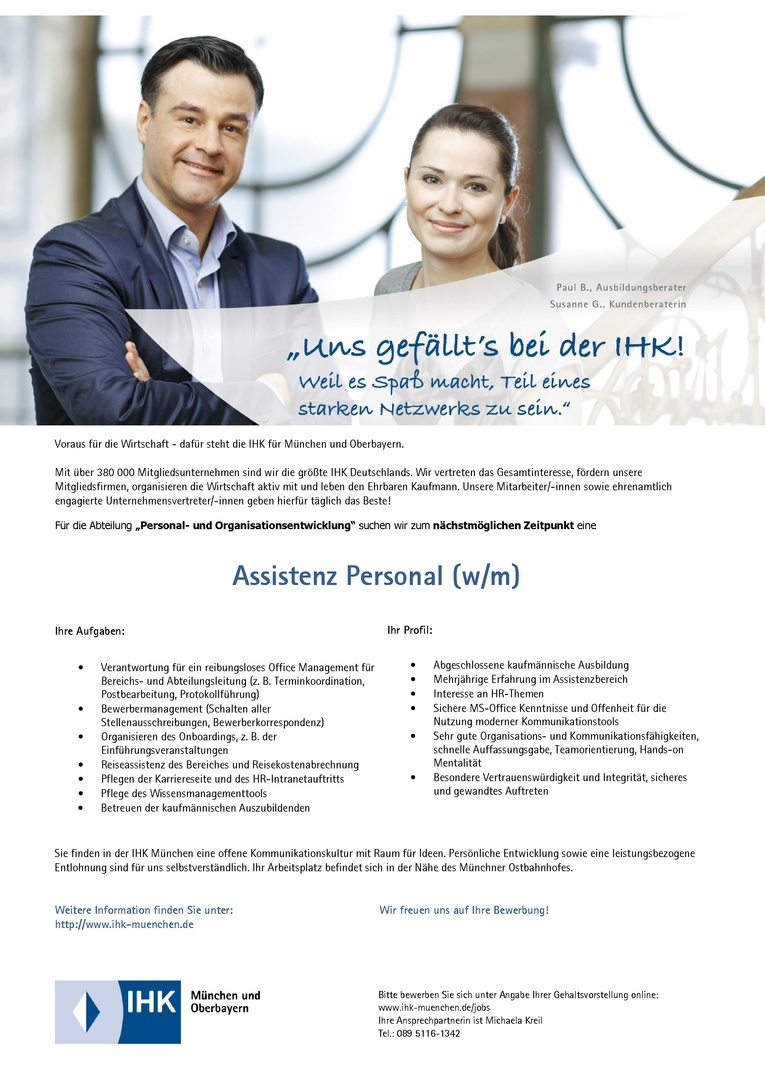 Assistenz Personal (w/m)