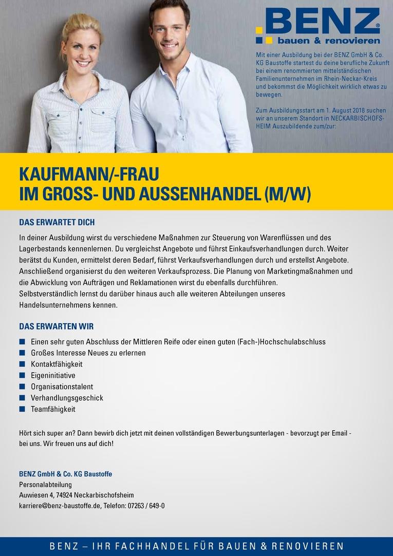 Ausbildung: Kaufmann/-frau im Groß- und Außenhandel