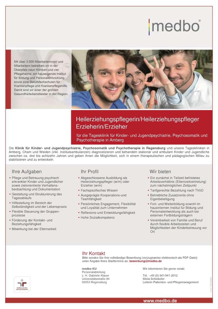 Heilerziehungspfleger (w/m) oder Erzieher (w/m)