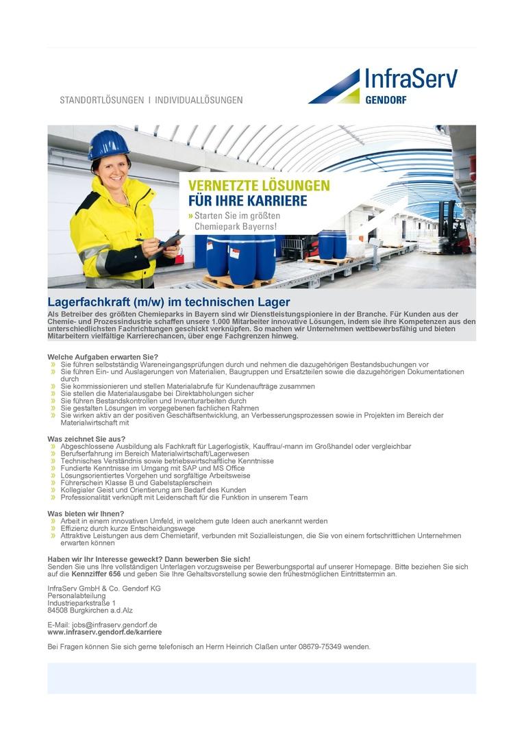 Lagerfachkraft (m/w) im technischen Lager