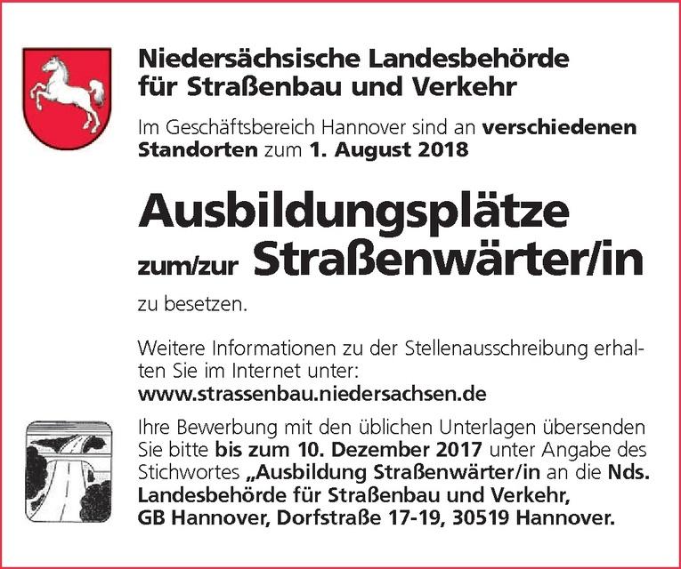 Ausbildung: Straßenwärter (m/w)