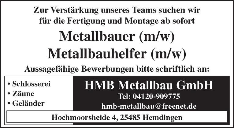 Metallbauhelfer (m/w)