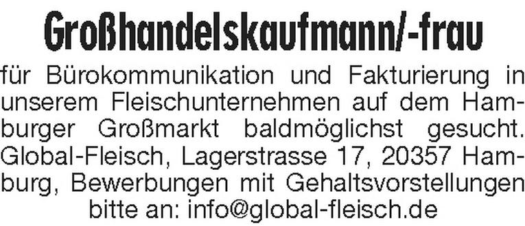 Großhandelskaufmann/-frau