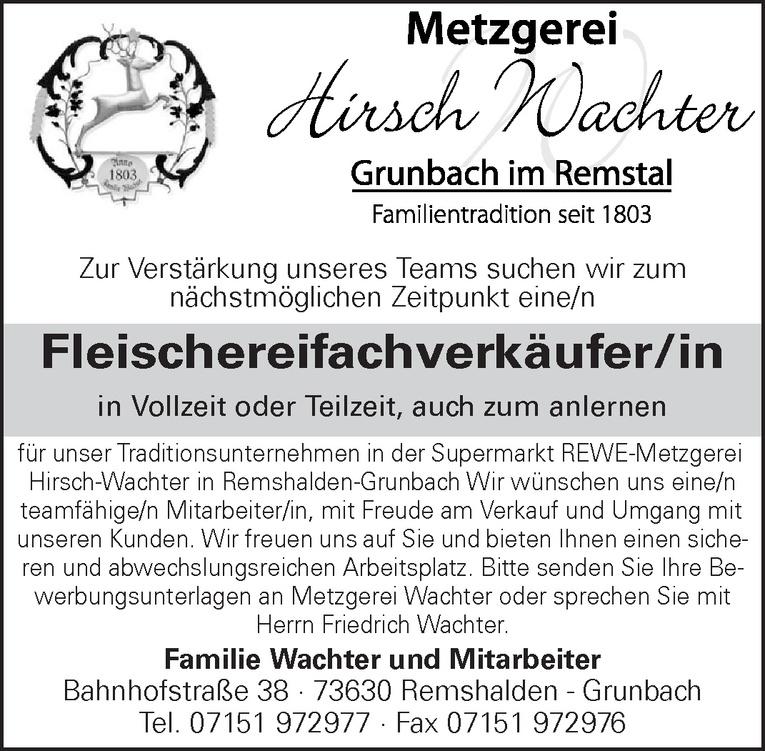 Fleischereifachverkäufer/in