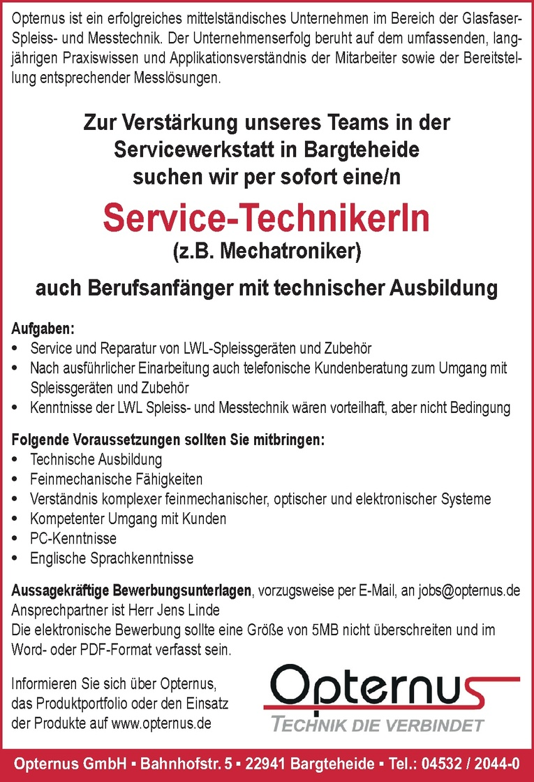 Service-TechnikerIn