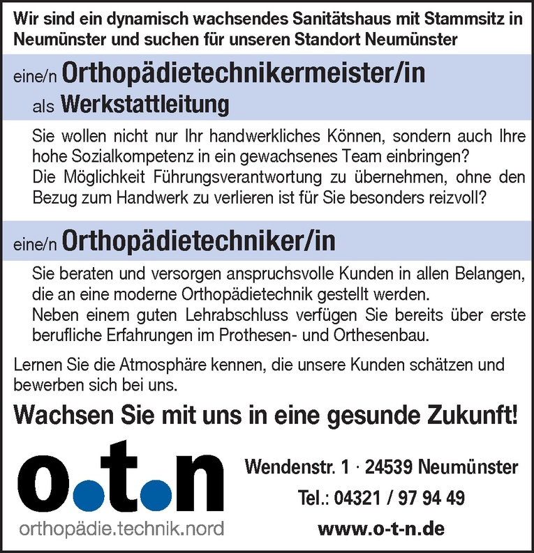 Orthopädietechnikermeister/in