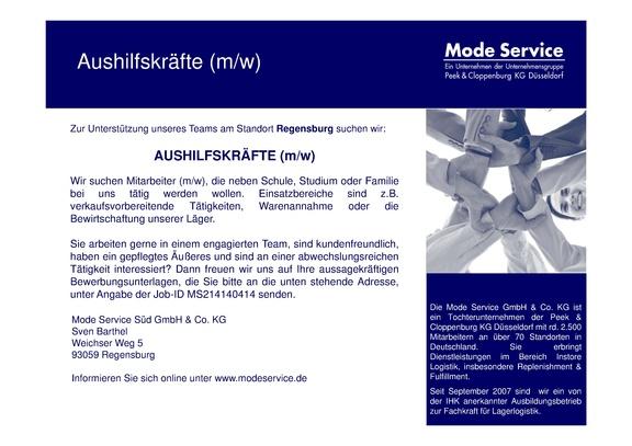 AUSHILFSKRÄFTE (m/w)