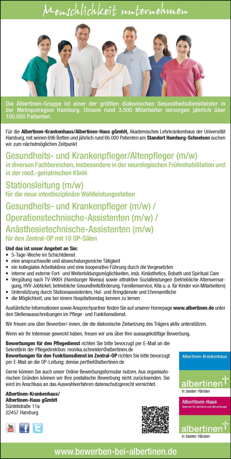 Gesundheits- und Krankenpfleger/Altenpfleger (m/w)