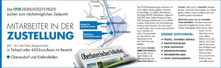 Mitarbeiter in der Zustellung für den Bezirk Oberaudorf und Kiefersfelden