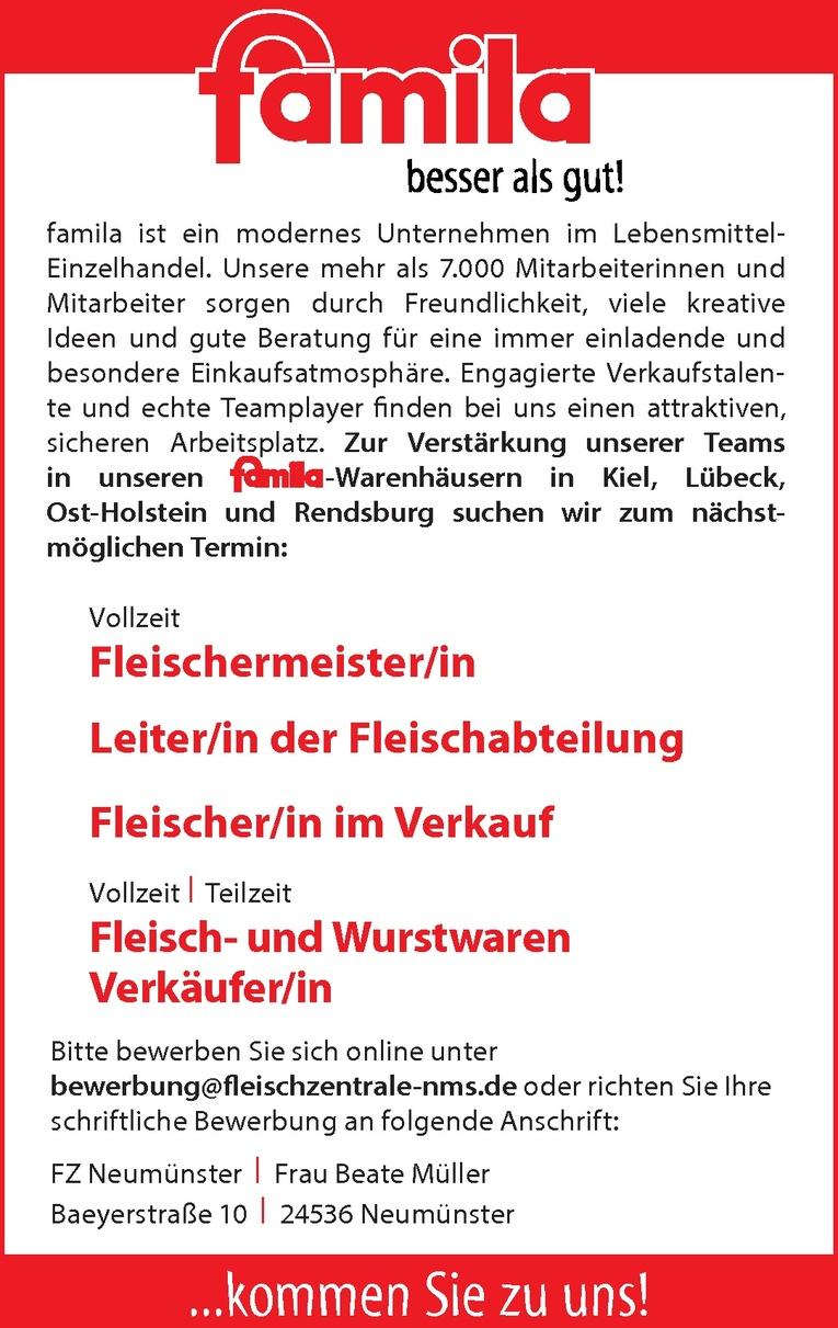 Fleisch- und Wurstwaren Verkäufer/in