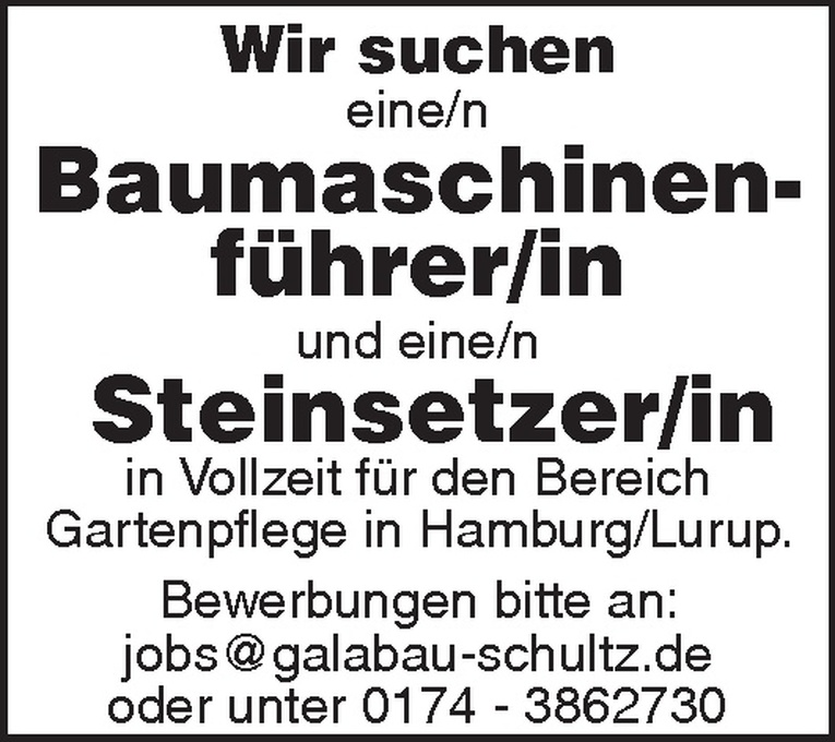 Baumaschinenführer/in