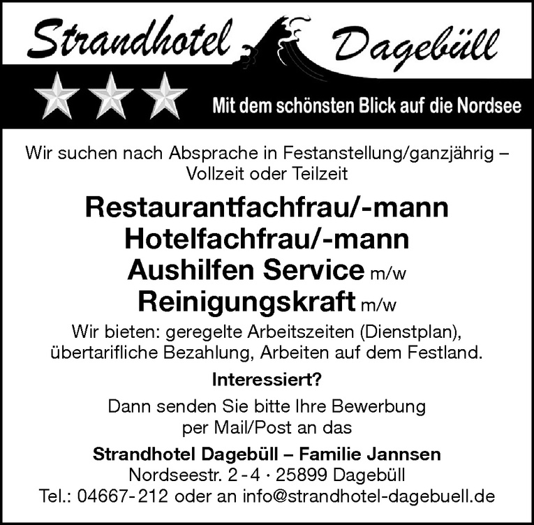 Restaurantfachfrau/-mann