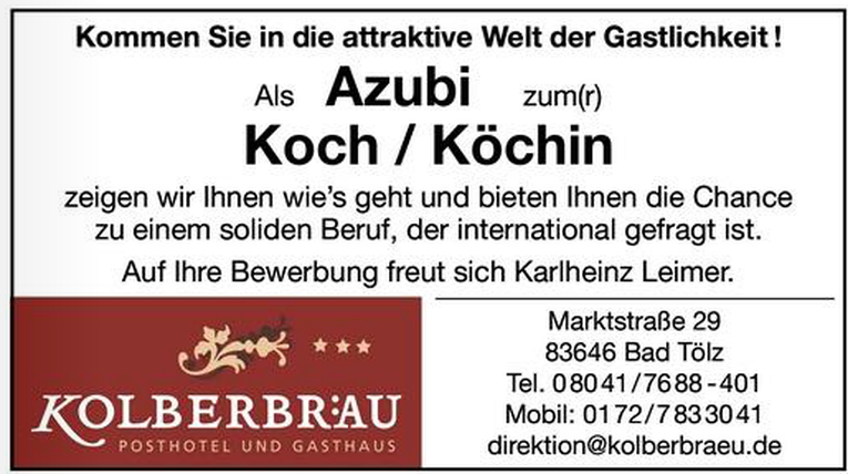 Azubi zum Koch (m/w)
