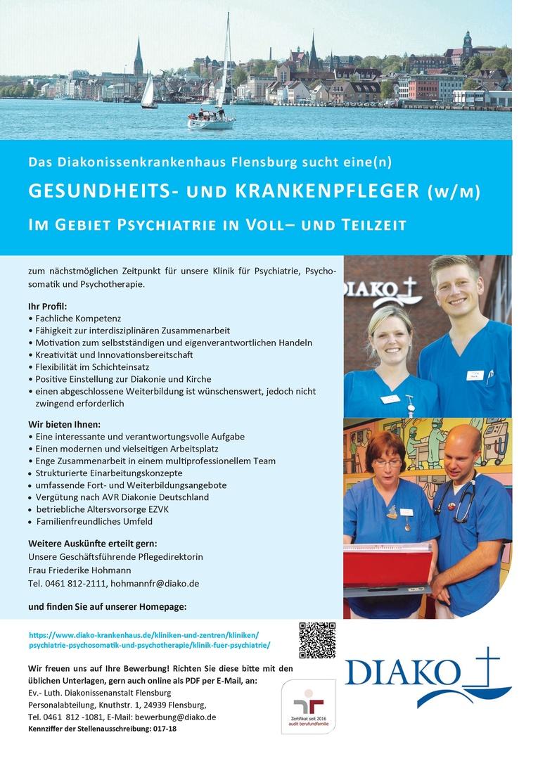 Gesundheits- und Krankenpfleger (w/m) im Gebiet Psychiatrie