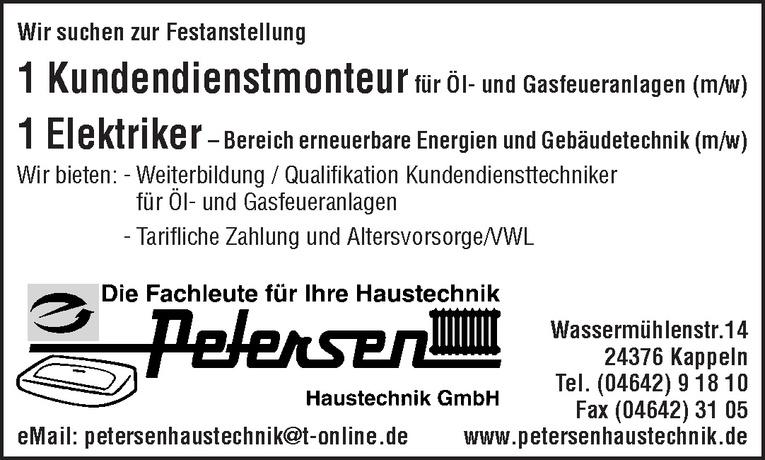 Kundendienstmonteur für Öl- und Gasfeueranlagen (m/w)