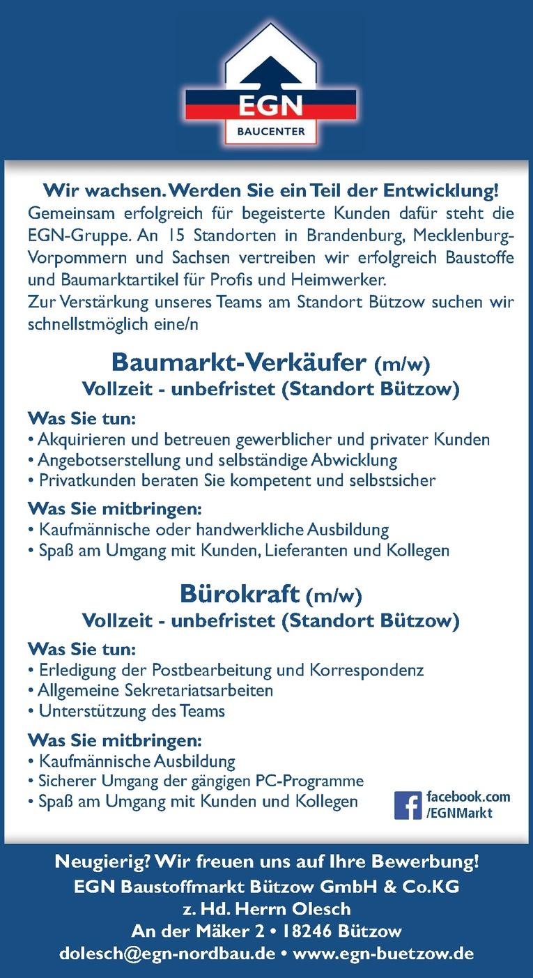 Baumarkt-Verkäufer (m/w)