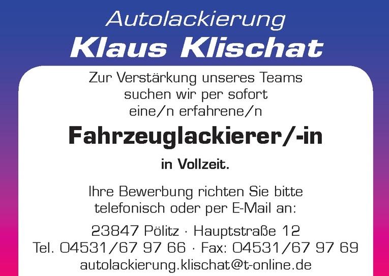 Fahrzeuglackierer/-in