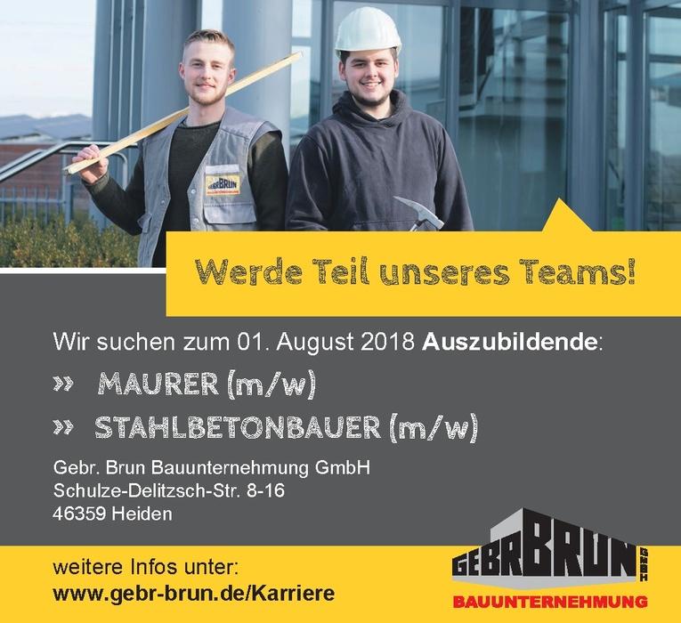 Ausbildung: Stahlbetonbauer (m/w)