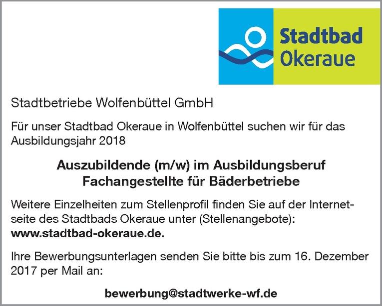 Ausbildung: Fachangestellte für Bäderbetriebe (m/w)